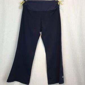Lululemon Navy Wide Leg Capri with Side Ties 8